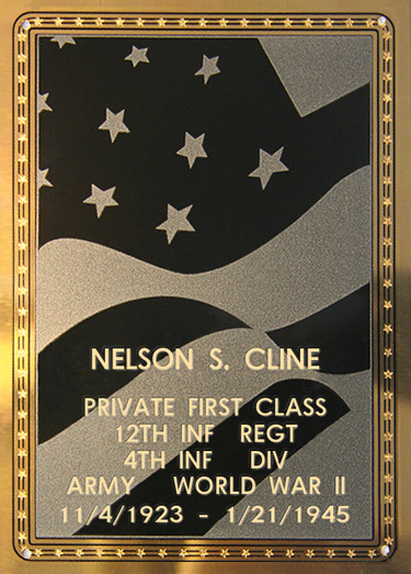 Nelson S. Cline Plaque