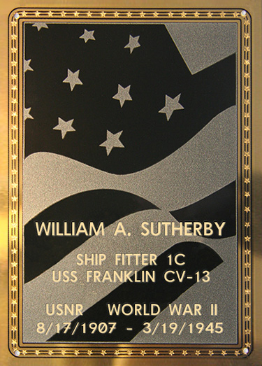 William A. Sutherby Plaque