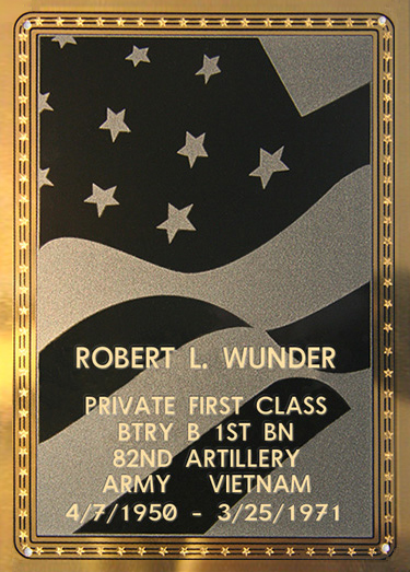 Robert L. Wunder Plaque