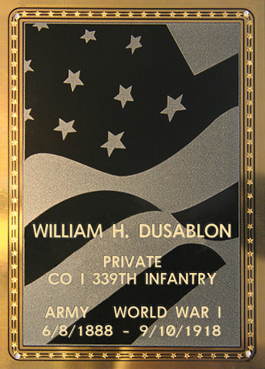William H. Dusablon Plaque